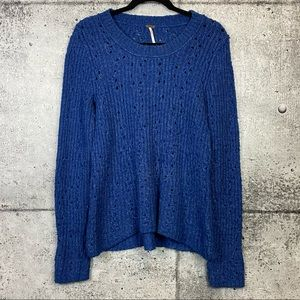 Free People // Eyelet Knit Sweater
